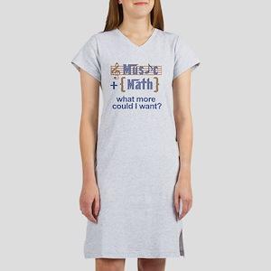music-math3 Women's Nightshirt