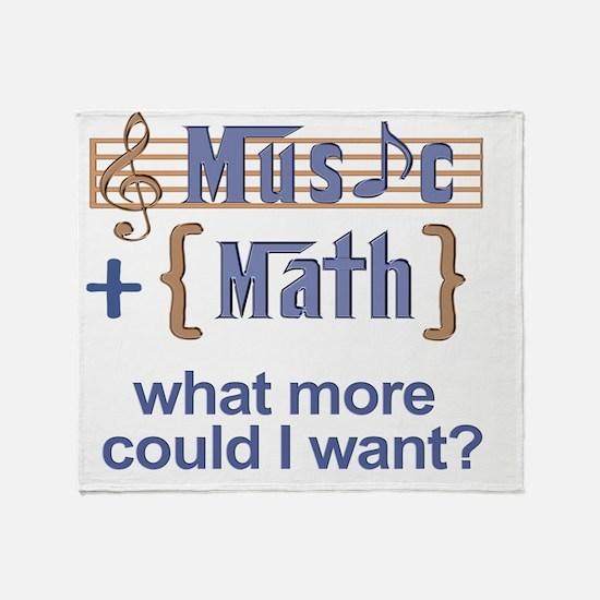 music-math3 Throw Blanket