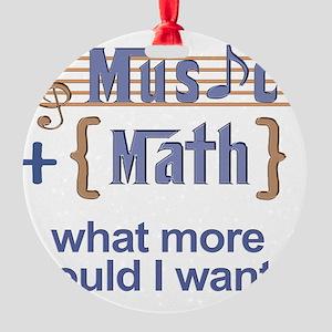 music-math3 Round Ornament
