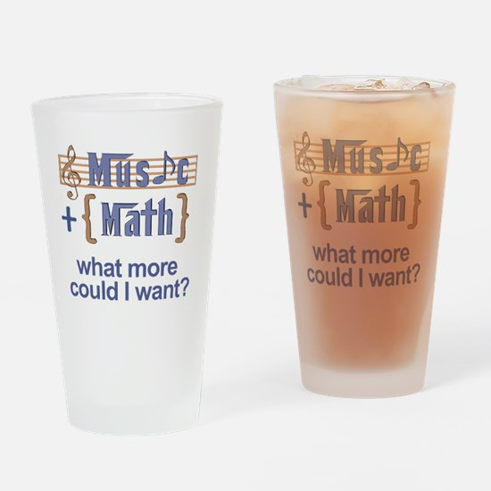 music-math3 Drinking Glass