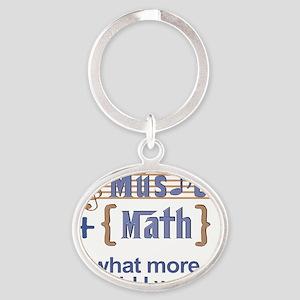 music-math3 Oval Keychain