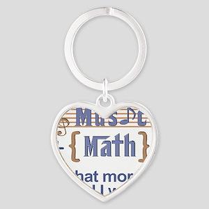 music-math3 Heart Keychain