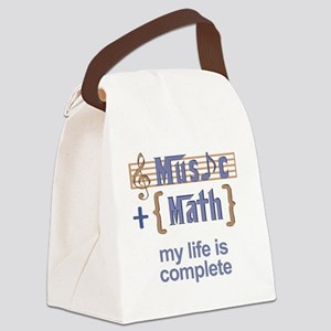 music and math Canvas Lunch Bag