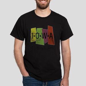 iowa easy to spell Dark T-Shirt