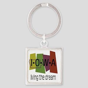 iowa living dream Square Keychain