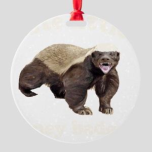 Cute HB -dk Round Ornament