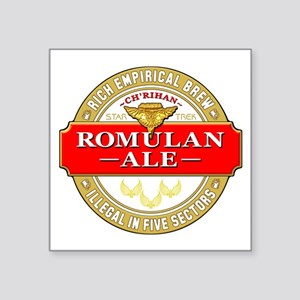 "romulan ale Square Sticker 3"" x 3"""