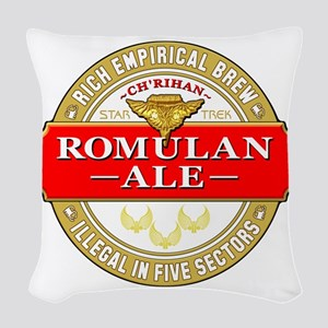 romulan ale Woven Throw Pillow