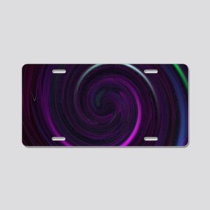 Purple twirl toiletry Aluminum License Plate