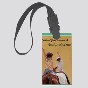 Follow_your_dreams2 Large Luggage Tag