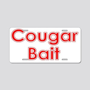 cougar white Aluminum License Plate