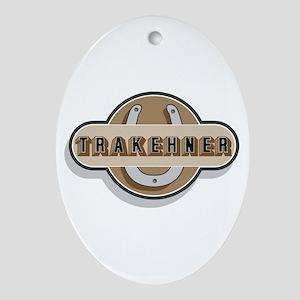Trakehner Horse Oval Ornament
