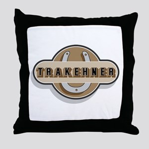 Trakehner Horse Throw Pillow