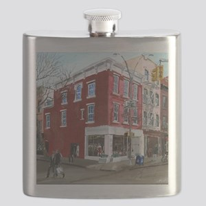 Winter in Greenwich Village Flask