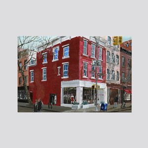 Winter in Greenwich Village Rectangle Magnet