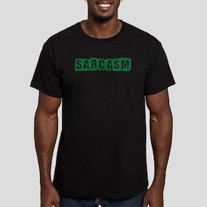 Sarcasm Men's Fitted T-Shirt (dark)