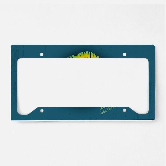 lips-tiedye-OV License Plate Holder