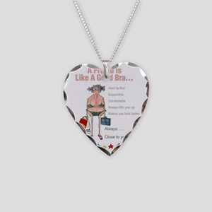 good bra Necklace Heart Charm