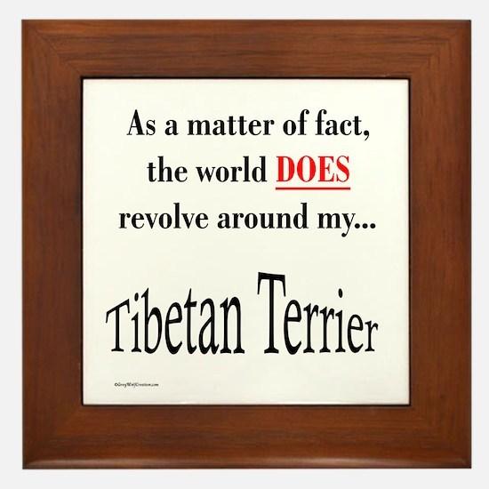 Tibetan Terrier World Framed Tile