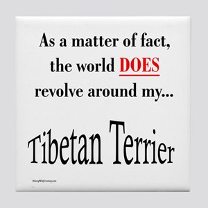 Tibetan Terrier World Tile Coaster