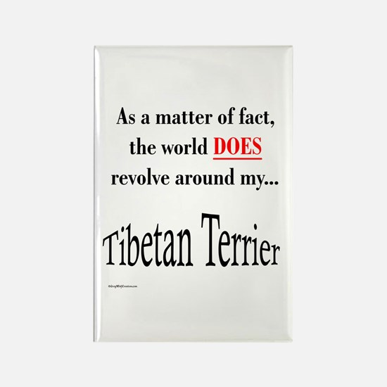 Tibetan Terrier World Rectangle Magnet