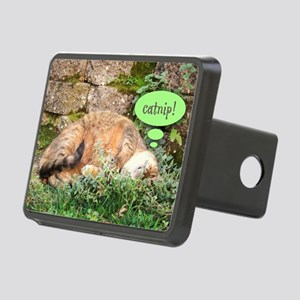 Mona Catnipping Rectangular Hitch Cover