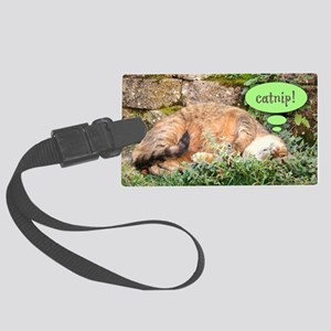Mona Catnipping Large Luggage Tag