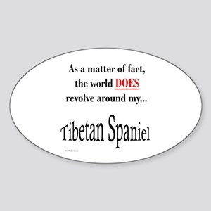 Tibbie World Oval Sticker