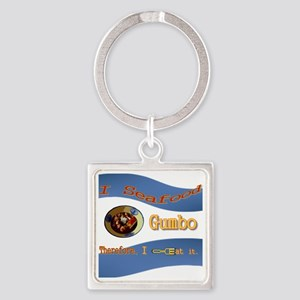 Seafood Gumbo Square Keychain