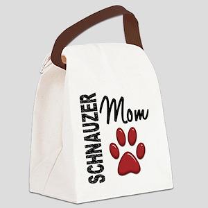 D Schnauzer Mom 2 Canvas Lunch Bag