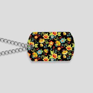 Bag Black Spring Floral Dog Tags