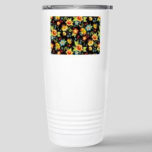 Bag Black Spring Floral Stainless Steel Travel Mug