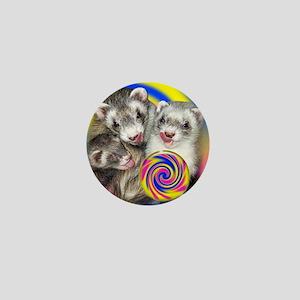 Ferrets Licking Lollipop Puzzle Mini Button