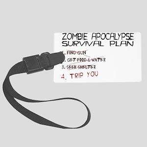ZombieApSurvivalBLK Large Luggage Tag