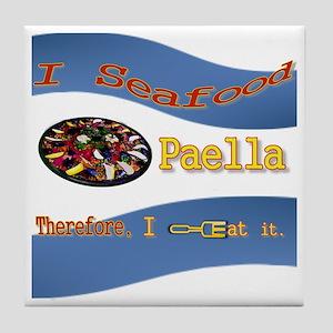 Seafood Paella Tile Coaster
