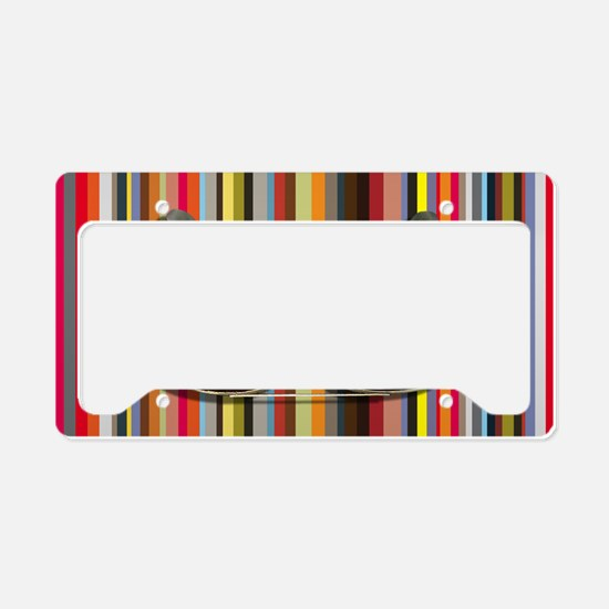 Shades of Red License Plate Holder