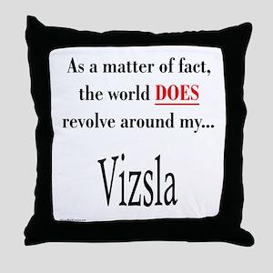 Vizsla World Throw Pillow