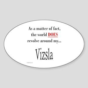 Vizsla World Oval Sticker