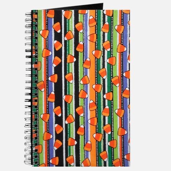 Candy Corn Stripe Journal