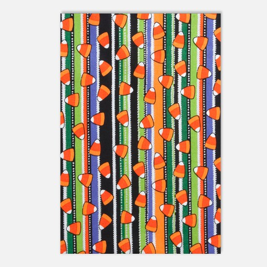 Candy Corn Stripe Postcards (Package of 8)