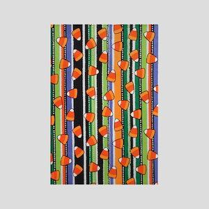 Candy Corn Stripe Rectangle Magnet