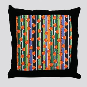 Candy Corn Stripe Throw Pillow
