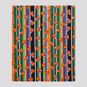 Candy Corn Stripe Throw Blanket