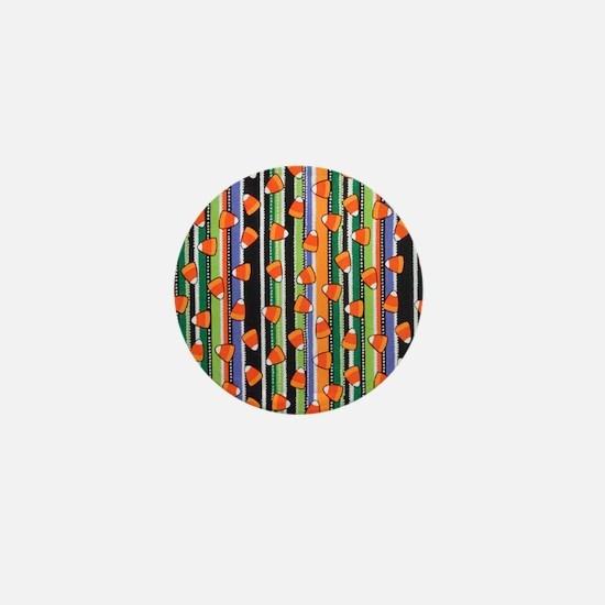 Candy Corn Stripe Mini Button