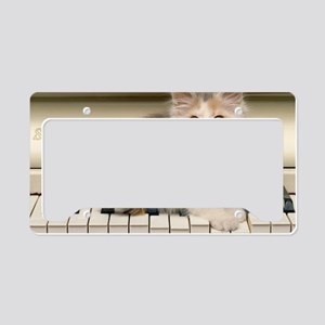 piano kitten laptop License Plate Holder