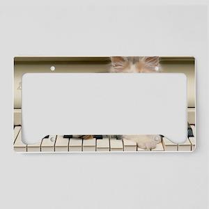 piano kitten laptop License Plate Holder