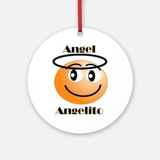 Angel / Angelito Ornament (Round)
