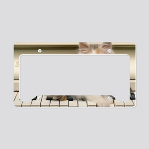 piano kitten toiletry License Plate Holder