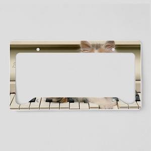 piano kitten toiletry License Plate Holder