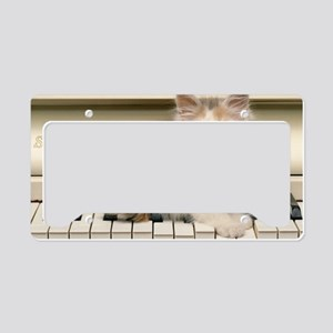 piano kitten shoulder License Plate Holder
